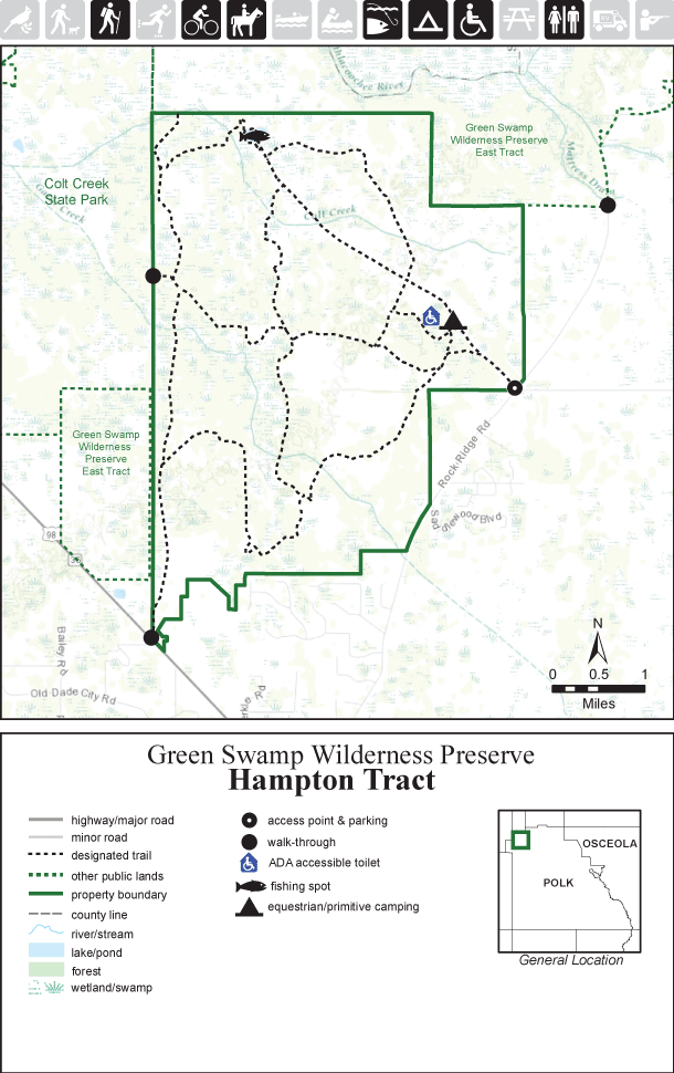 Green Swamp Hampton Tract map thumbnail
