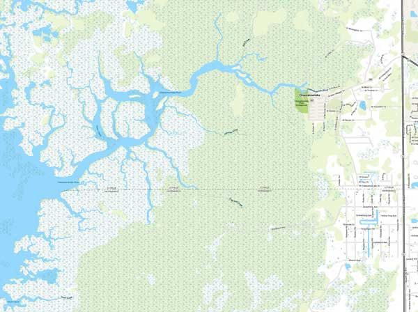 Chassahowitzka River System map