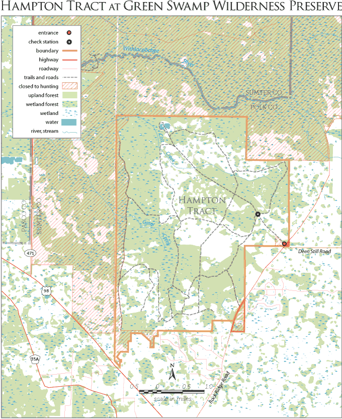 Hampton Tract hog hunt map