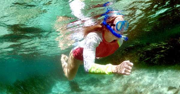 Snorkling at the springs