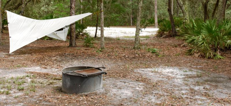 Primitive camping at Serenova Tract