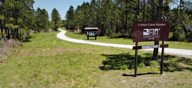 Cypress Creek Preserve entrance