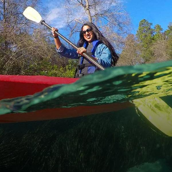 Kayaking at Weeki Wachee