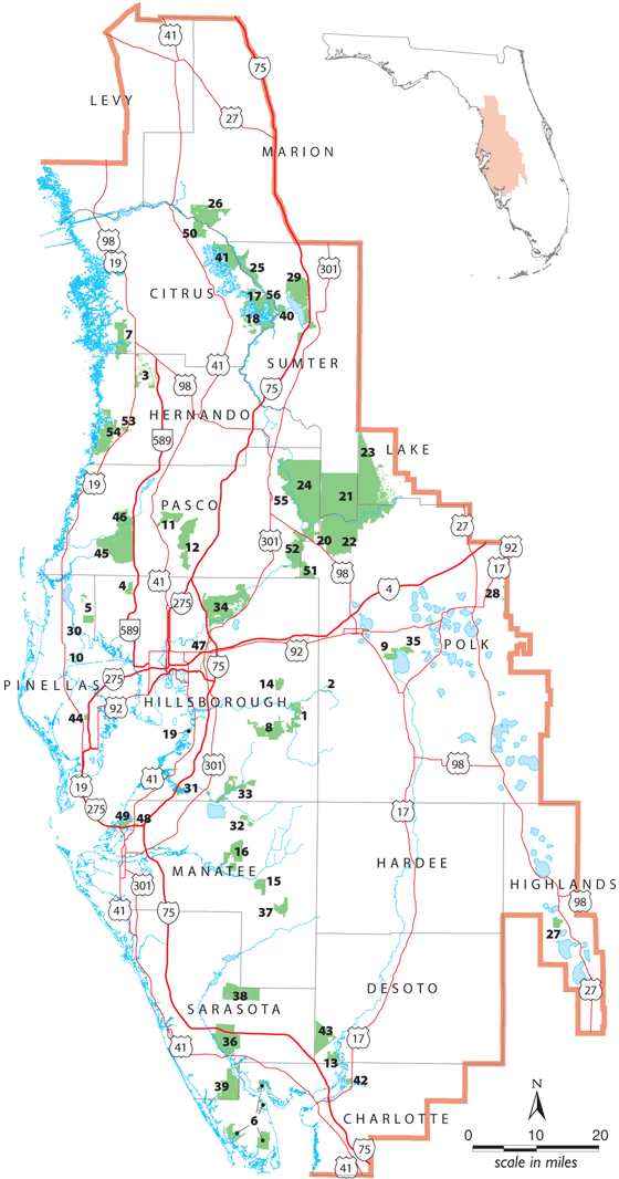 Recreation Areas Map